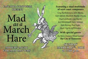 Mad as a March Hare postcard front
