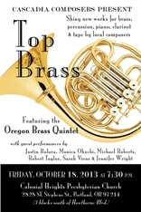 Cascadia Composers present Top Brass featuring the Oregon Brass Quintet
