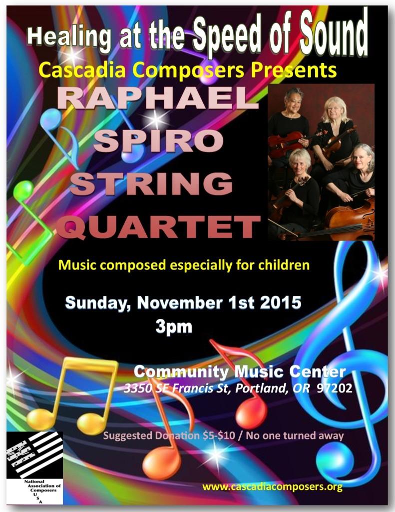 Cascadia Raphael Spiro String Quartet Concert