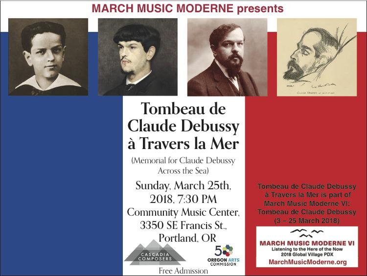 Tombeau de Claude Debussy à Travers la Mer