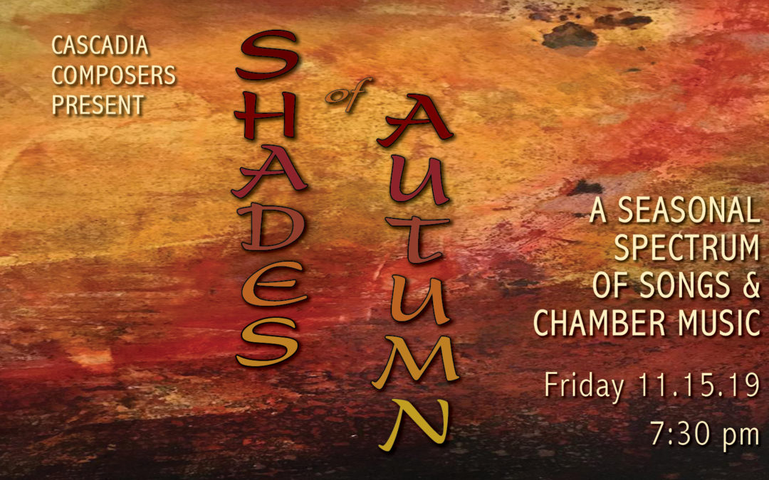 Come hear songs sung by Lisa Neher – and more – in Shades of Autumn!